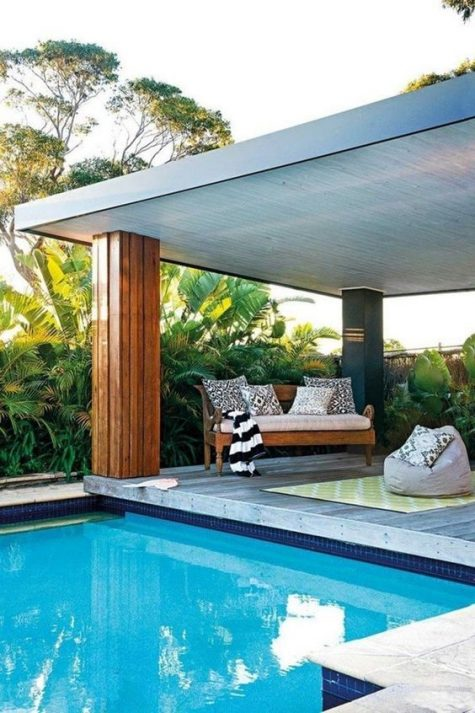 25 Stylish Pool Cabana Décor Ideas - Shelterness on Cabana Designs Ideas id=52223