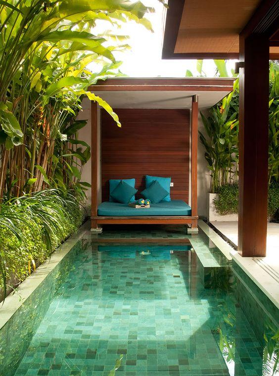 25 Stylish Pool Cabana Décor Ideas - Shelterness on Small Pool Cabana Ideas id=46283