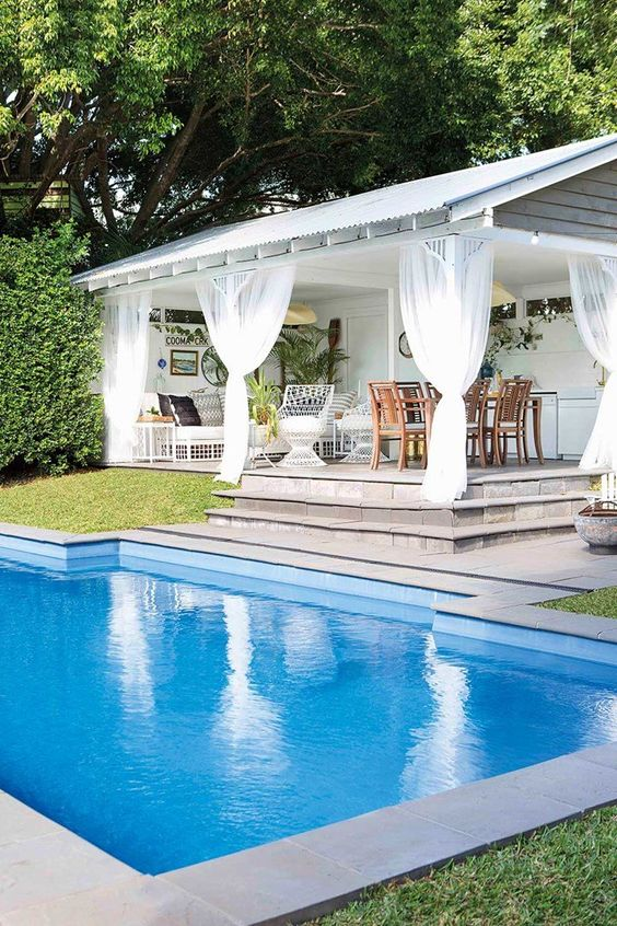 25 Stylish Pool Cabana Décor Ideas - Shelterness on Cabana Designs Ideas id=28868