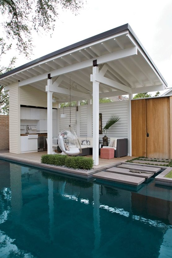 25 Stylish Pool Cabana Décor Ideas - Shelterness on Cabana Designs Ideas id=83757