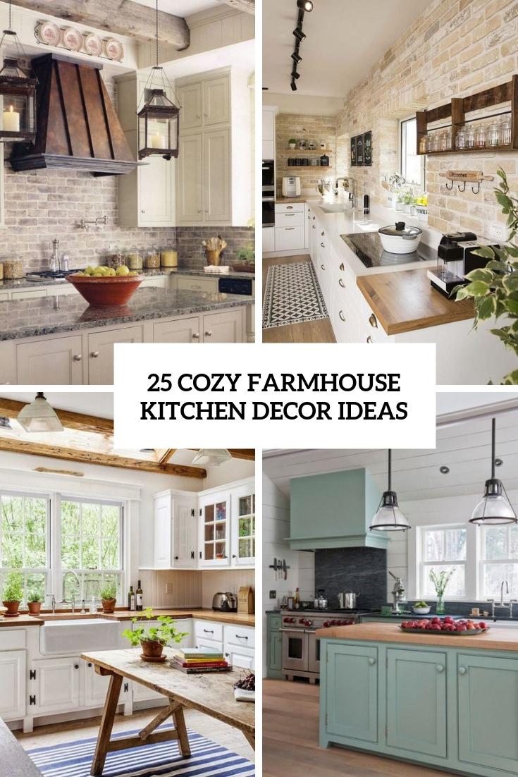25 Cozy Farmhouse Kitchen Decor Ideas Shelterness