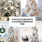 25 Ways To Decorate A Flocked Christmas Tree Shelterness