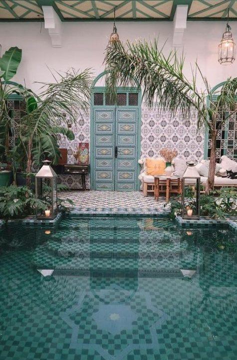 17 welcoming boho pool space ideas