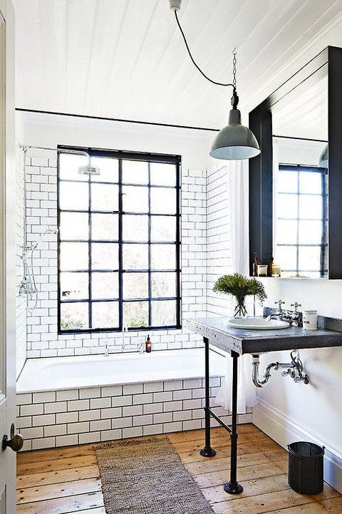 25 catchy industrial bathroom decor