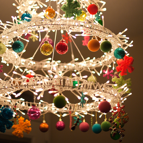 Christmas Chandelier Of Ikea Lights Via Flickr