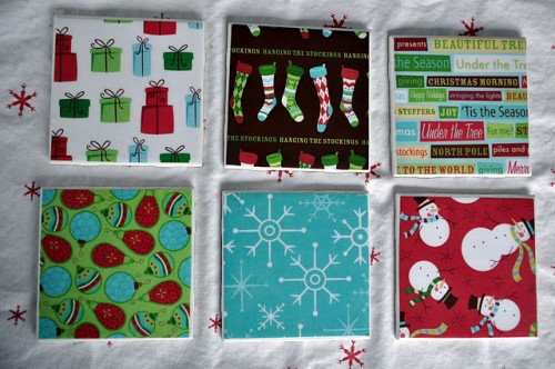 10 Ideas To Make Cool Christmas Coasters Shelterness