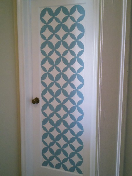 13 Creative Ideas To Paint Doors Using Stencils Shelterness