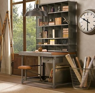 51 Cool Storage Idea For A Home Office   Shelterness With right furniture industrial style home office is quite easy to design   This storage unit