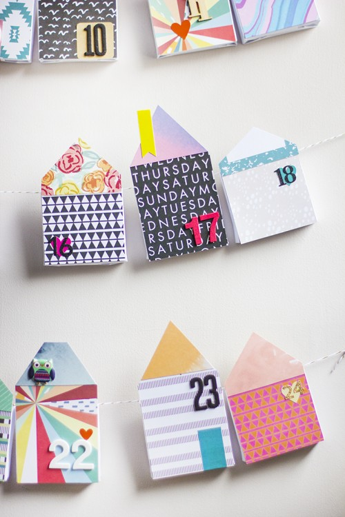 DIY Bold Paper Houses Advent Calendar Shelterness