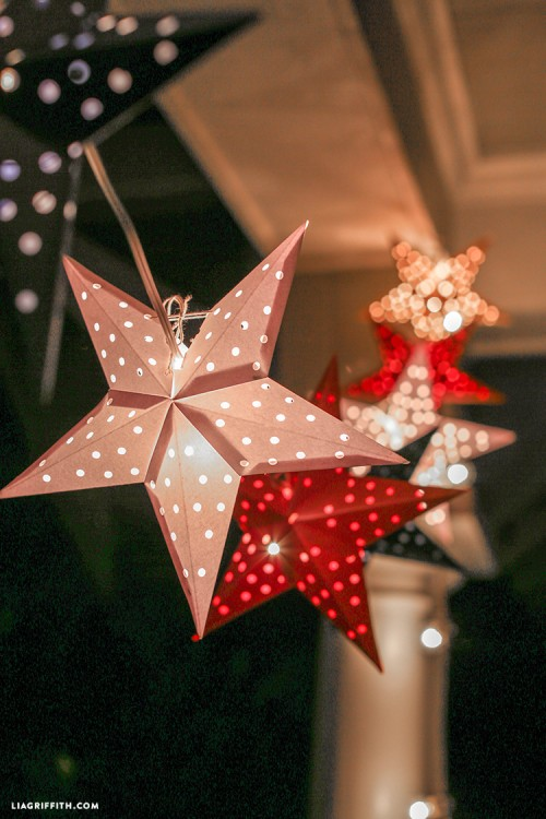 DIY Paper Star Lights Garland For The 4th Of July Shelterness