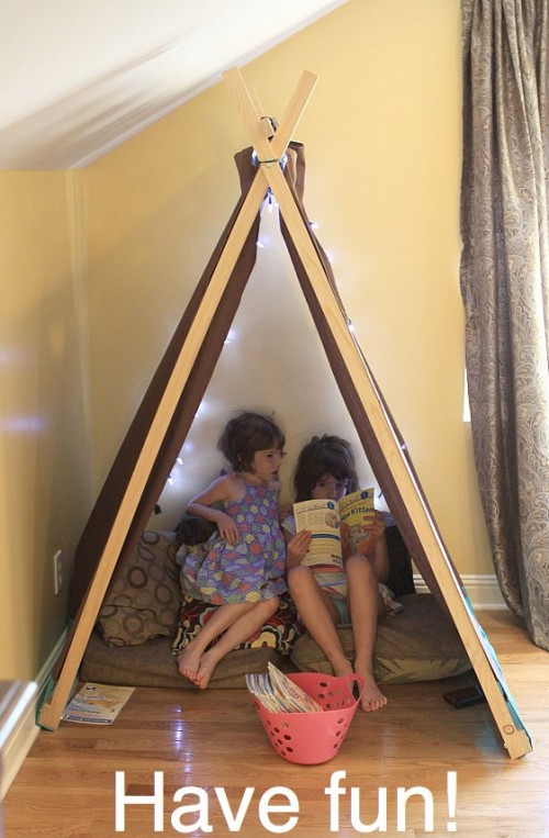 The living room is one of the most important areas in your house for a great hosting experience. DIY Reading Nook And Play Tent For Kids - Shelterness