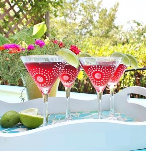 to decorate party glassware 14 diys