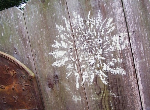 How To Decorate Your Fence Using Stencils Shelterness
