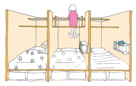 How To Maximize Free Space At A Kids Room Shelterness