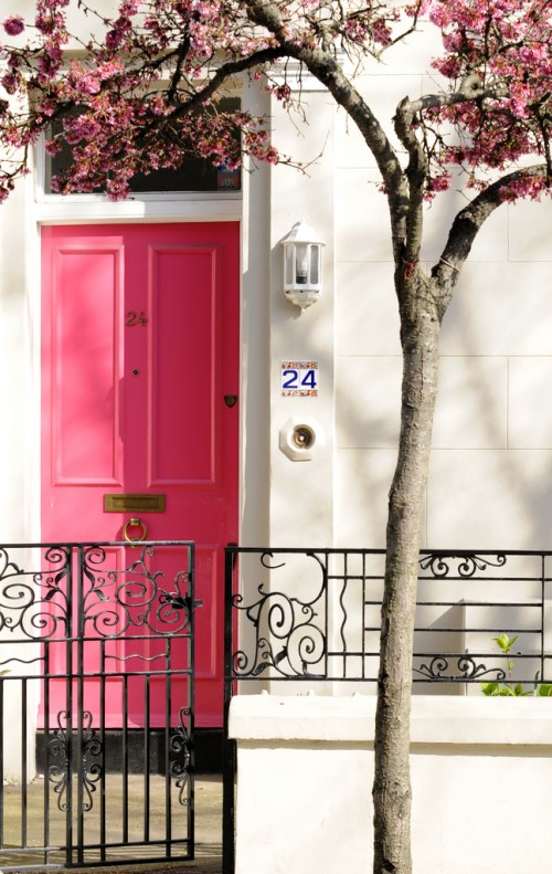 15 Pink Front Door Designs That Inspire Shelterness
