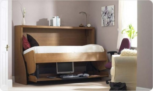 Space Saving Bed Transformable To Desk Shelterness
