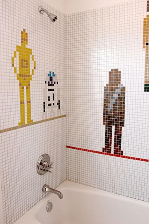 star wars bathroom tiles for a kids