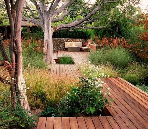 wood decking on patios and terraces