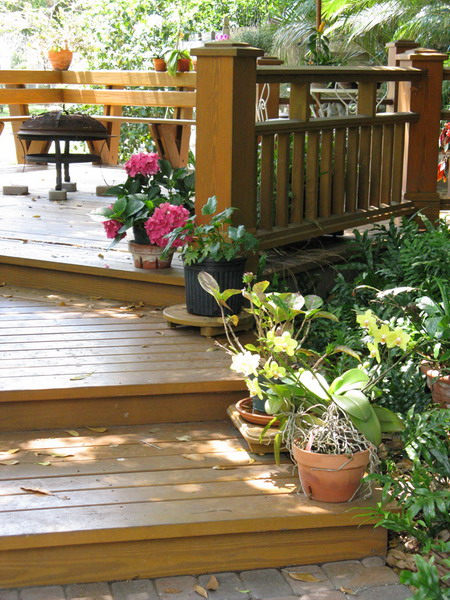 30 Ideas To Use Wood Decking On Patios And Terraces ... on Wood Deck Ideas For Backyard  id=91471