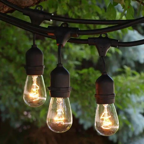 backyard outdoor string lighting