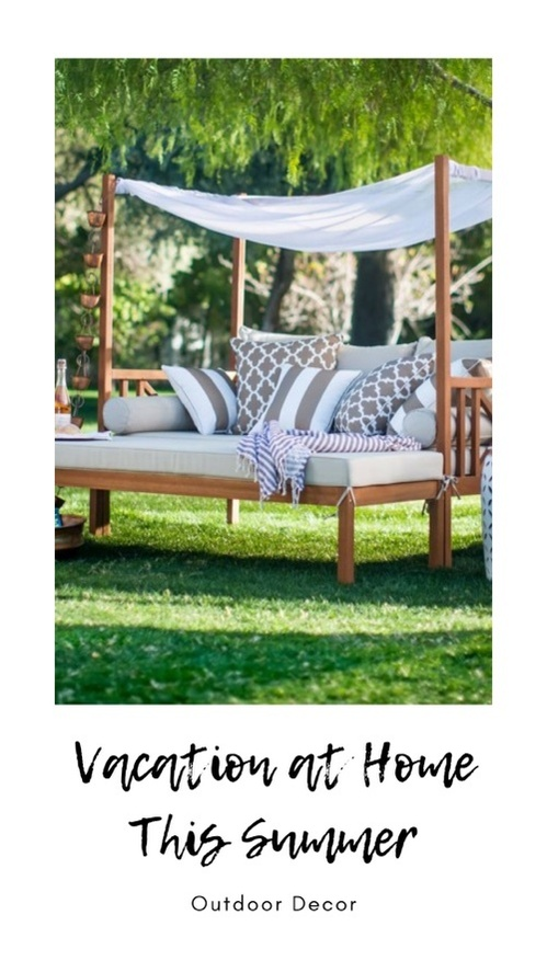 Borealis 2pc Patio Papasan Chair Ottoman Set Opalhousetm ... on Belham Living Brighton Outdoor Daybed  id=83484