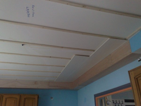 Prolongation De La Gaine Technique Et Latage Pour Faux Plafond Pvc Ma Passion