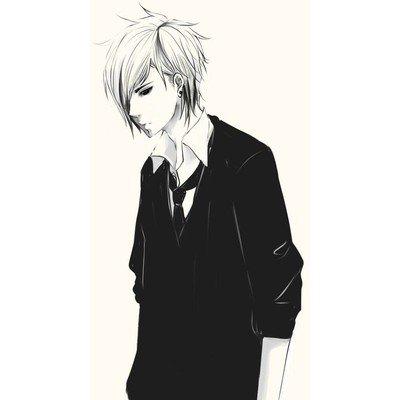 image manga garcon en noir et blanc 5