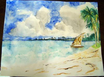 paysage aquarelle des dessins