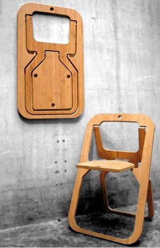 une chaise pliante par bea pour