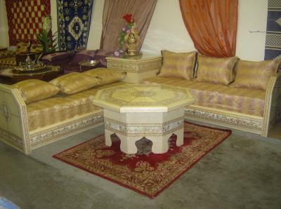polyster blanc 1680 salon marocain