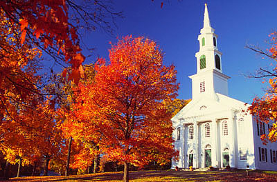 Granby, Massachusetts, during peak autumn foliage season
