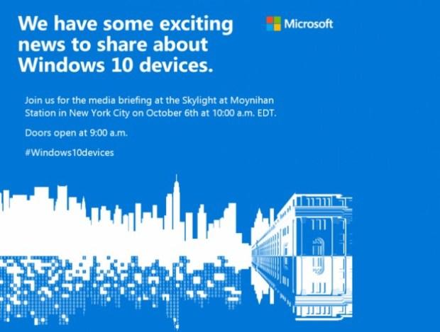Lumia 950 и 950 XL будут представлены 10 октября