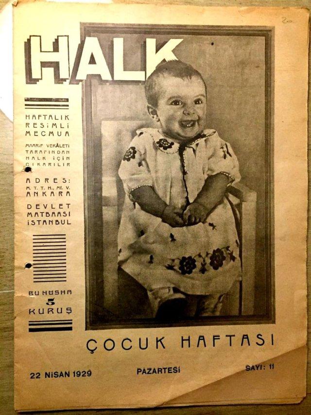 22 Nisan 1929 tarihli Halk dergisi.