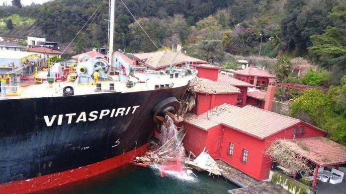 Yalıyı yıkan geminin sahibi 50 milyon dolarlık hacize itiraz etti: Yalı yıkıldı, arazisi değil