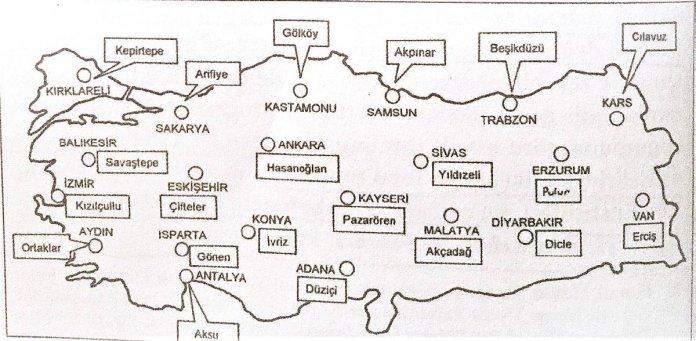 Türkiye'de kurulan 21 Köy Enstitüsü