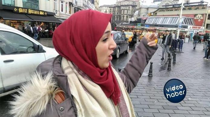 Taksim'de taksicilerin turist avı