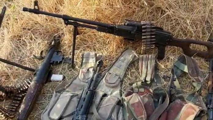 Teröristler silah ve mühimmatlarını bırakarak kaçtı!