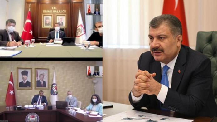 Artan vakaların ardından Bakan Koca 4 ilin valisiyle toplantı yaptı