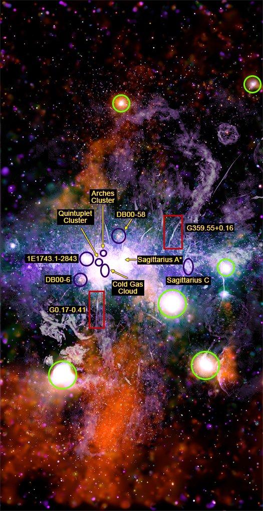 NASA, Samanyolu galaksisinden yeni bir görüntü paylaştı 13