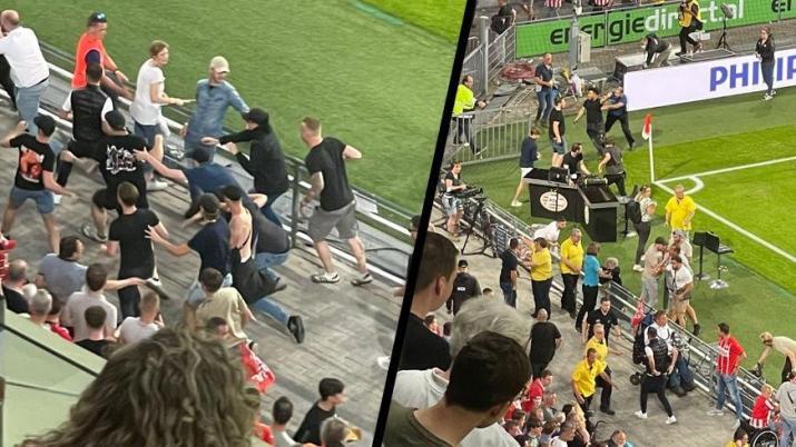 PSV Eindhoven-Galatasaray maçının devre arasında gerginlik