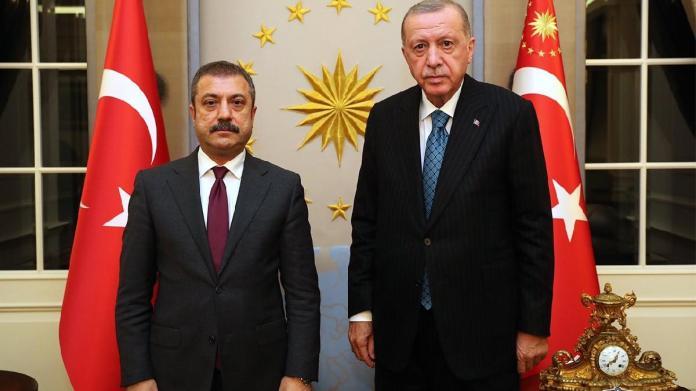 Cumhurbaşkanı Erdoğan, Merkez Bankası Başkanı Şahap Kavcıoğlu ile görüştü