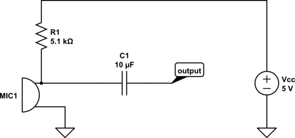 how can we make a signal out of a 2 pin mic output