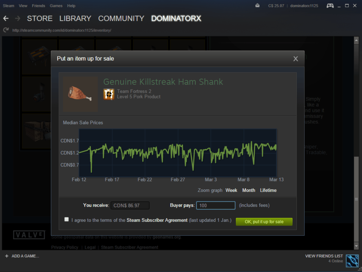 What Are The Steam Community Market Fees For Dota TF2