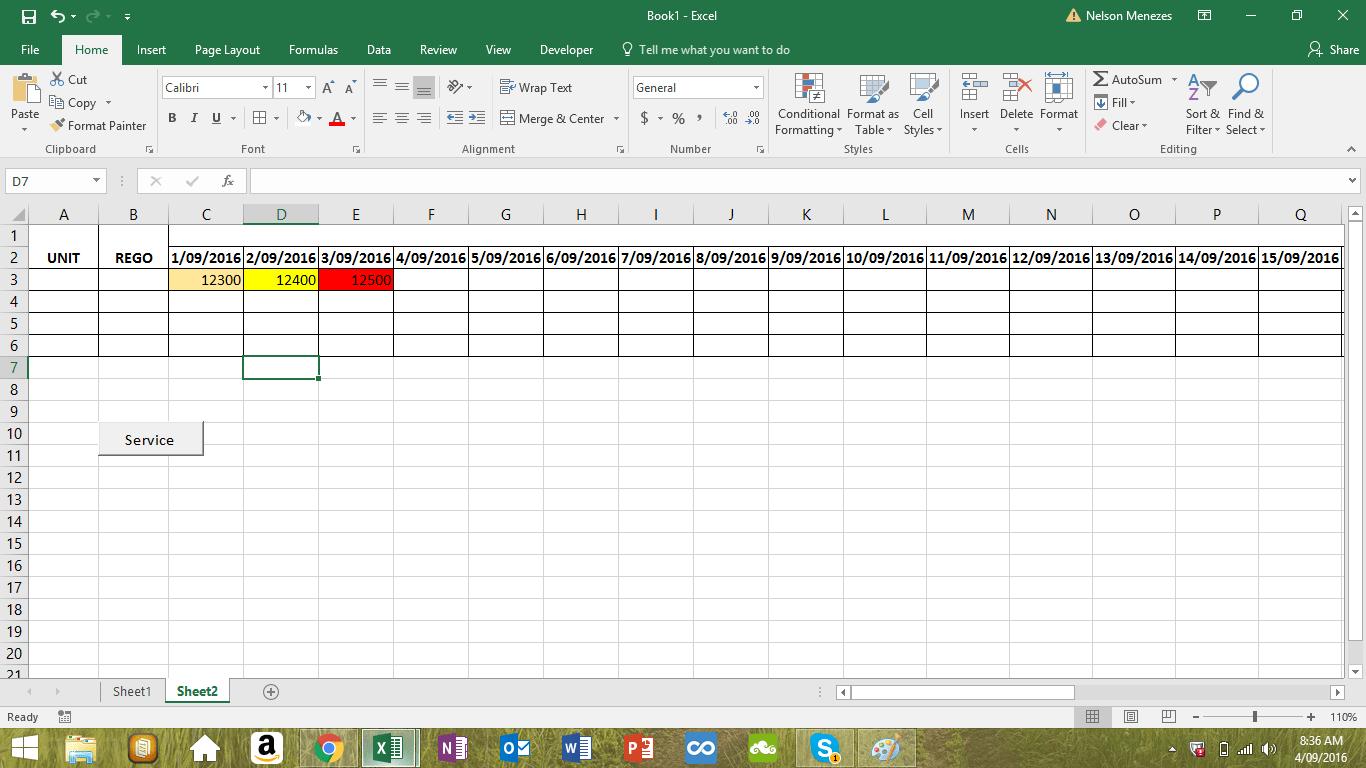Worksheet Range Interior Color