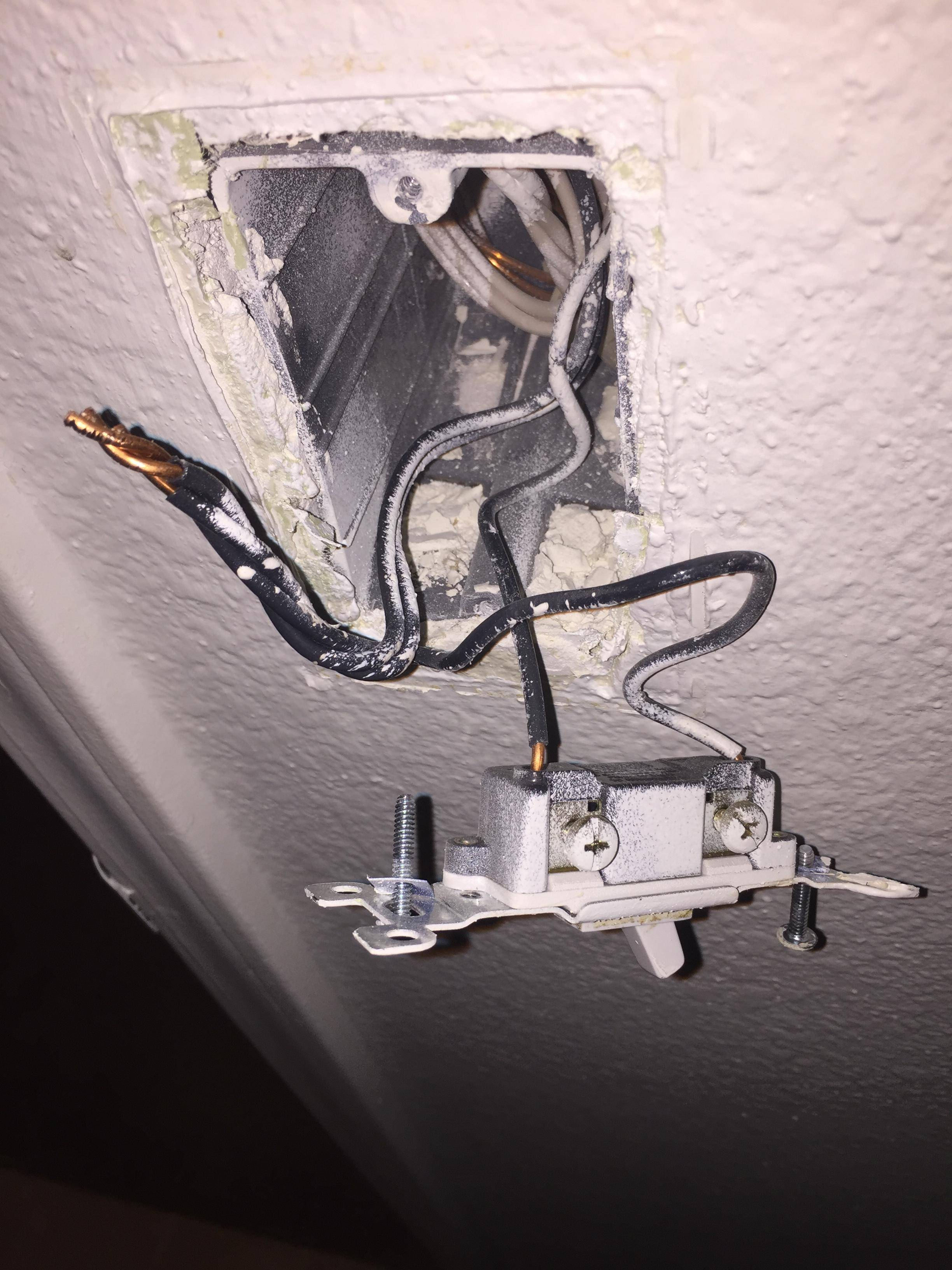 seperating bathroom light and exhaust