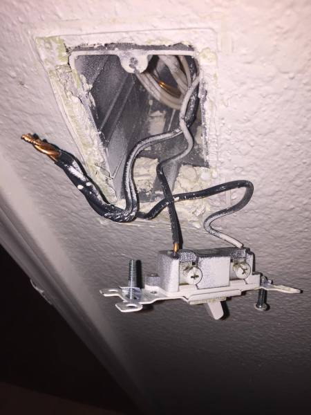 Seperating bathroom light and exhaust fan on single switch   Home     enter image description here