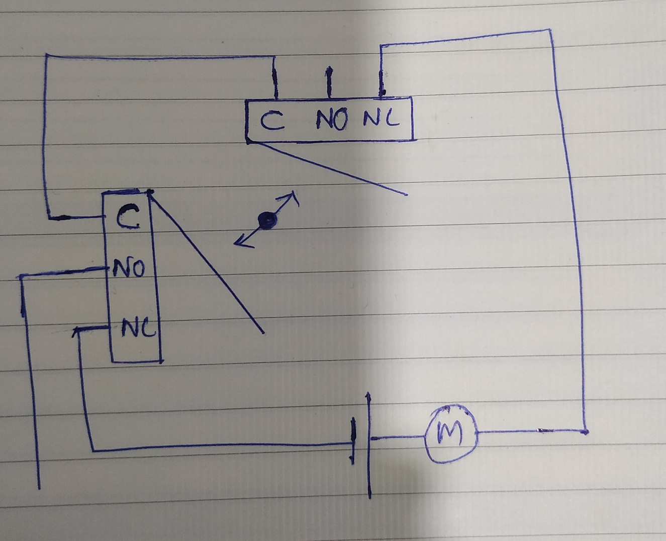Motor With Two Endstops Using Limit Switches