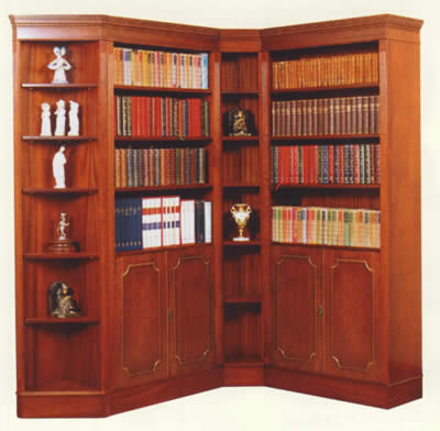 builtin corner shelf plans