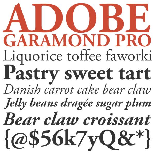 Adobr Garamond Pro Font