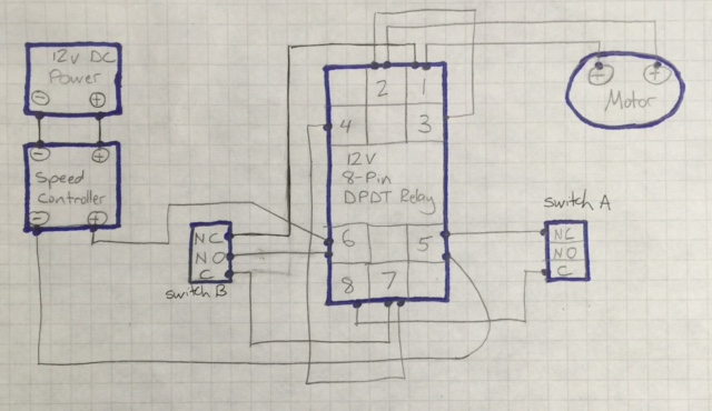 Motor Speed Controller Causing Relay To Lose Voltage